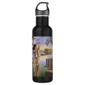Pegasus Parthenon Water Bottle (24 oz), Black 710 Ml Water Bottle