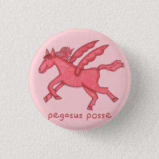 """Pegasus Posse 1-1/4"""" Round 3 Cm Round Badge"""