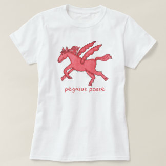 Pegasus Posse (Various Styles) Women's White T-Shirt