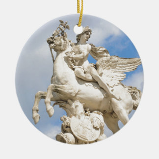 Pegasus Round Ceramic Decoration