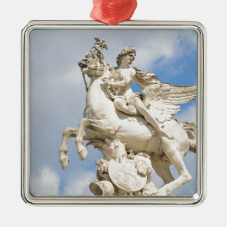 Pegasus Silver-Colored Square Decoration