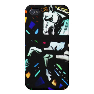 Pegasus stained glass speck case cover for iPhone 4