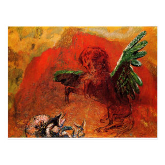 """Pegasus & the Hydra"" by Odilon Redon Postcard"