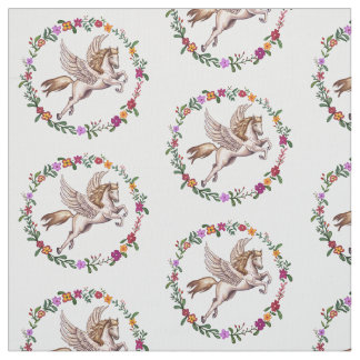 Pegasus the Winged Horse of Greek Mythology Fabric