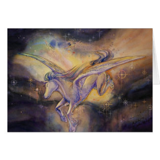 Pegasus With Nebula Card