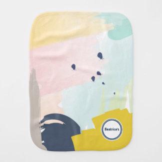 Pegeo Modern Pastel Watercolour Cute Burp Cloth