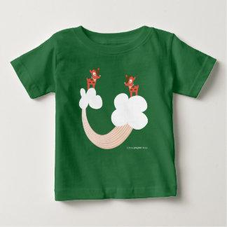 Pegeo Reindeers Cloud & Rainbow Funny Baby T-Shirt