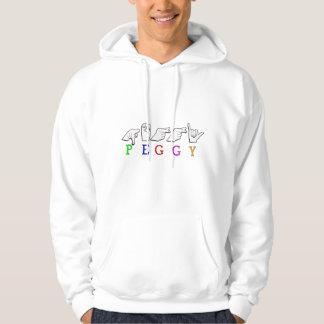 PEGGY FINGERSPELLED ASL NAME SIGN HOODIE