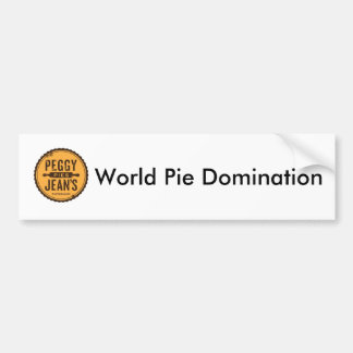 Peggy Jean's Pies Bumper Sticker