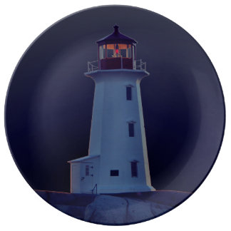 """Peggy's Cove"""" Lighthouse ""Lighthouse blue Plate"