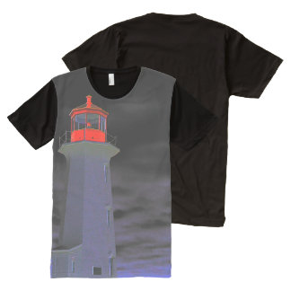 Peggy's Cove Lighthouse Route American Apparel All-Over Print T-Shirt