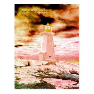 Peggy's Cove  Lighthouse Route Nova Scotia Postcard