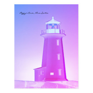 Peggy's Cove  Lighthouse Route Nova Scotia purple Postcard
