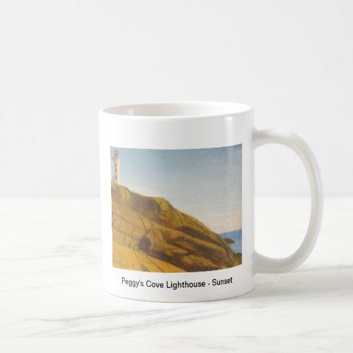 Peggy's Cove Lighthouse - Sunset Coffee Mugs