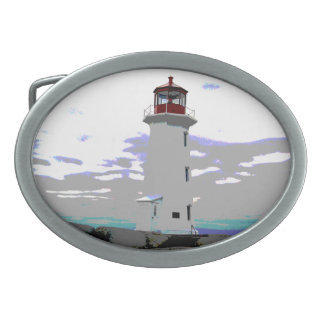 Peggy's Cove  Nova Scotia Lighthouse belt buckle