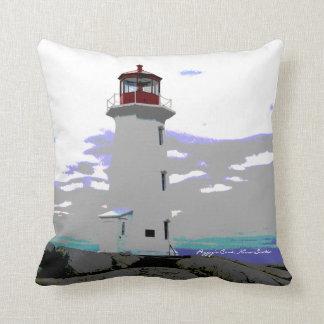 Peggy's Cove Nova Scotia Lighthouse Route pillow
