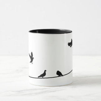 Pegions on the Wire Combo Mug