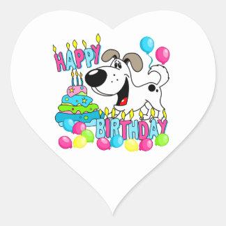 PEGUI Pups Happy Birthday - Cutie Heart Sticker
