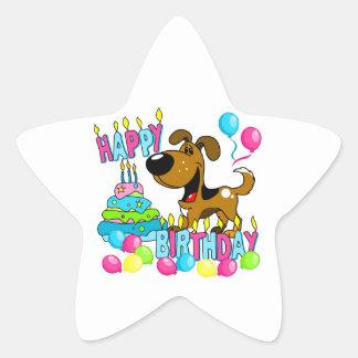 PEGUI Pups Happy Birthday - Tin Star Sticker