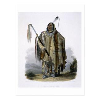 Pehriska-Ruhpa, a Minatarre or Big-Bellied Indian, Postcard