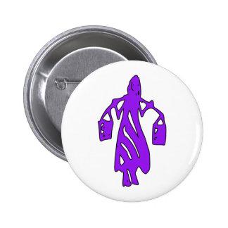 Peileppe Tribal Art Woman w Bucket Silhouette Maid Buttons