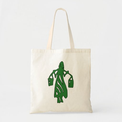 Peileppe Tribal Art Woman w Bucket Silhouette Maid Tote Bag