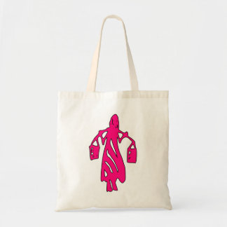 Peileppe Tribal Art Woman w Bucket Silhouette Maid Tote Bags