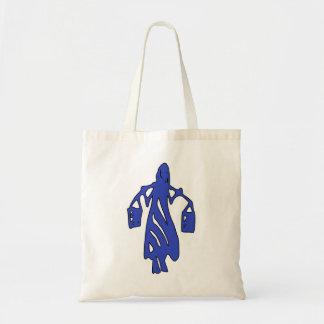 Peileppe Tribal Art Woman w Bucket Silhouette Maid Canvas Bag