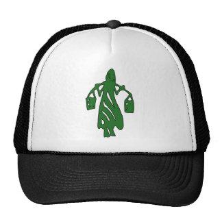 Peileppe Tribal Art Woman w Bucket Silhouette Maid Hat