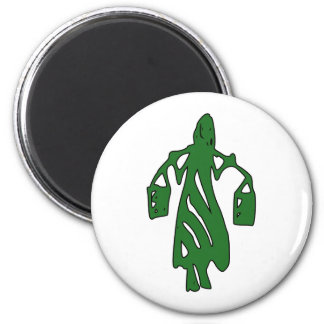 Peileppe Tribal Art Woman w Bucket Silhouette Maid Refrigerator Magnets
