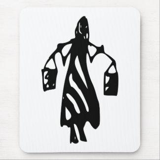 Peileppe Tribal Art Woman w Bucket Silhouette Maid Mousepad