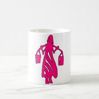 Peileppe Tribal Art Woman w Bucket Silhouette Maid Mugs