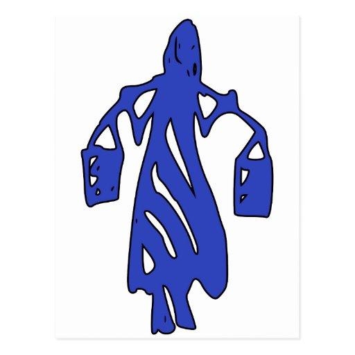 Peileppe Tribal Art Woman w Bucket Silhouette Maid Postcards