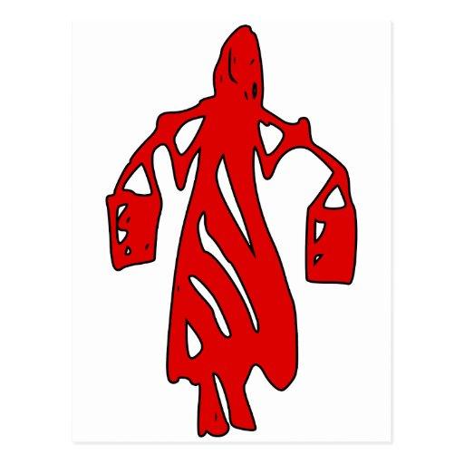 Peileppe Tribal Art Woman w Bucket Silhouette Maid Postcard