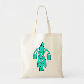 Peileppe Tribal Art Woman w Bucket Silhouette Maid Bags