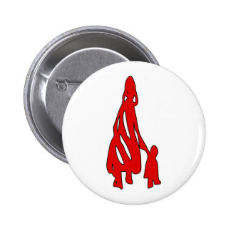 Peileppe Tribal Art Woman w Child Silhouette comic Buttons