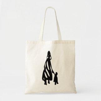 Peileppe Tribal Art Woman w Child Silhouette comic Bag
