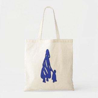 Peileppe Tribal Art Woman w Child Silhouette comic Bags