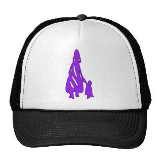 Peileppe Tribal Art Woman w Child Silhouette comic Trucker Hat