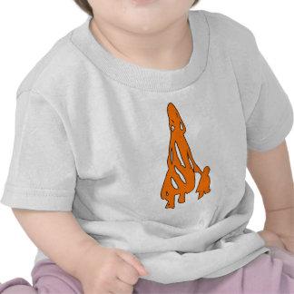Peileppe Tribal Art Woman w Child Silhouette comic Tee Shirt