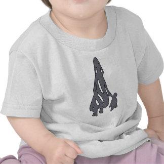 Peileppe Tribal Art Woman w Child Silhouette comic Shirt