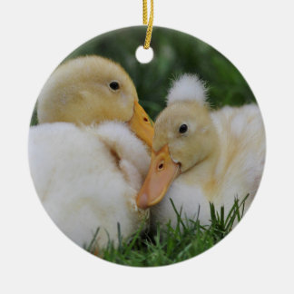 Pekin Ducklings Ceramic Ornament