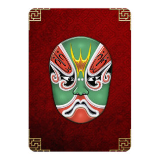 Peking Opera Face-paint Masks - Zheng Lun Card