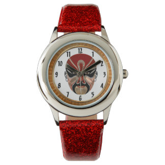 Peking Opera Facial Masks In Black And Red design5 Watch
