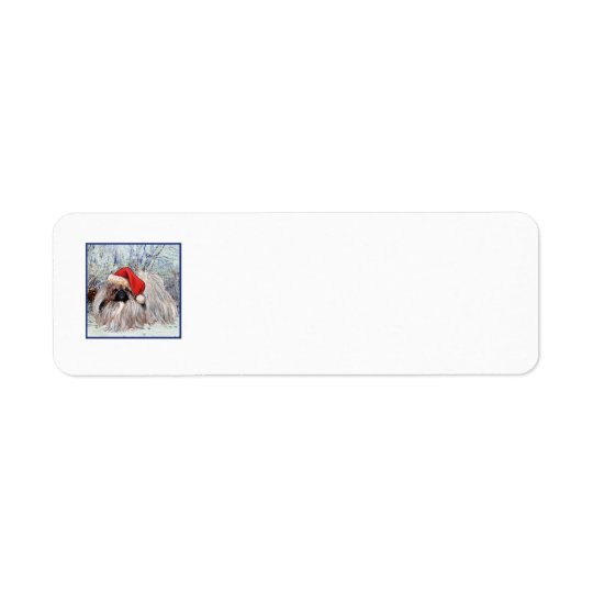 Pekingese Christmas Return Address Labels
