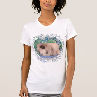 Pekingese Dog in Flower Garden T-Shirt