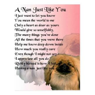 Pekingese Dog -  Nan Poem Postcard