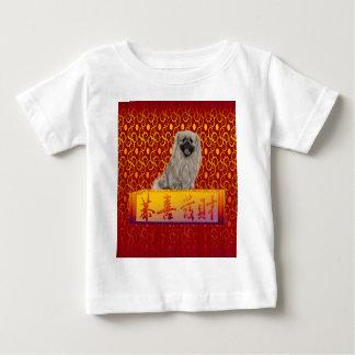 Pekingese Dog on Happy Chinese New Year Baby T-Shirt