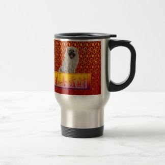 Pekingese Dog on Happy Chinese New Year Travel Mug