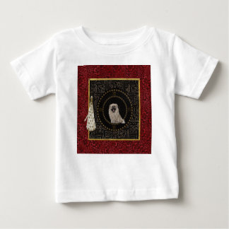 Pekingese Dog, Round Shape, Dog in Chinese, Tassel Baby T-Shirt